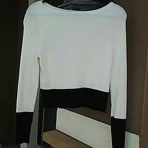White House Black Market Cropped Sweater